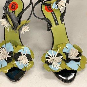 Zara Black Strappy Sandals